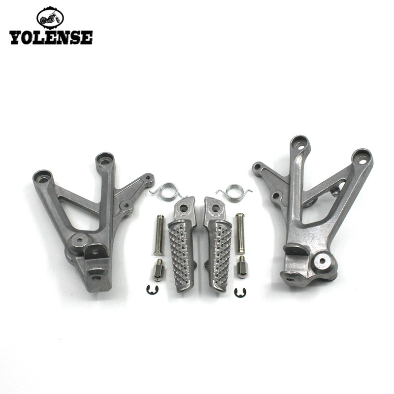 For HONDA CBR600 F4 1999-2000 CBR600 F4I 2001-2007 Motorcycle Accessories Footrests Front Foot Pegs Pedals Rest Footpegs Bracket