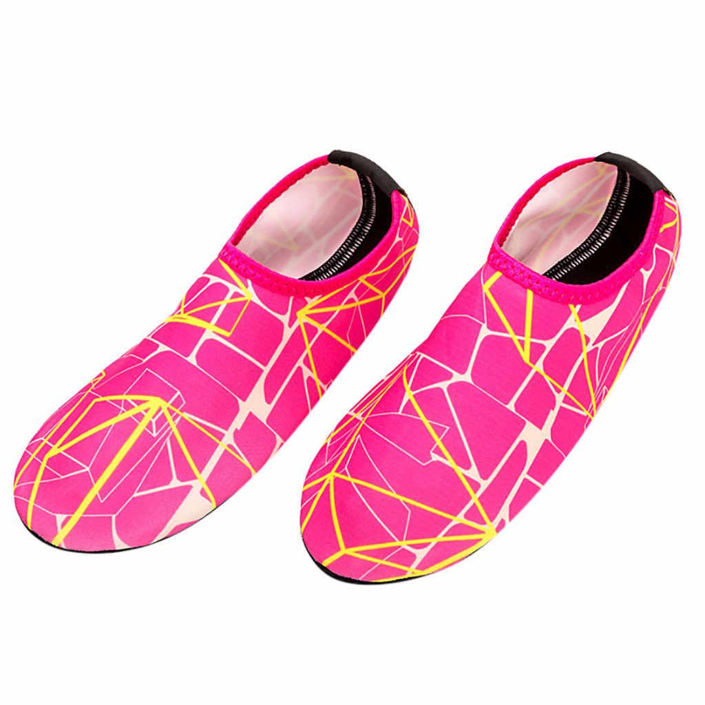 ชายรองเท้าชายหาดว่ายน้ำดำน้ำถุงเท้าชายหาด Drifting น้ำกีฬาถุงเท้า River Anti Slip ฟิตเนสโยคะ Wading รองเท้า # y30