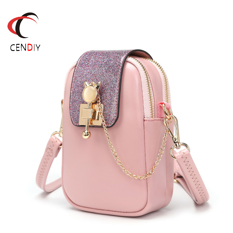 Fashion Purse Women Mini Shoulder Bags Chain Mobile Phone Bag Ladies Small Messenger Bag Pocket Designer Female Clutch 2019