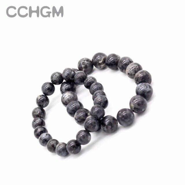 2017 Natural labradorite Spectrolite stone crystal bracelets for women round beads bracelet jewelry pendant vintage jewelry