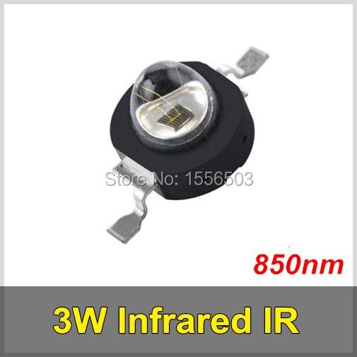 3 шт./лот 3 Вт инфракрасный ИК-<font><b>850nm</b></font> высокое Мощность светодиод бисера излучатель dc1.8-2.2 В CCTV Камера ИК диода для безопасности Черный светодиоды