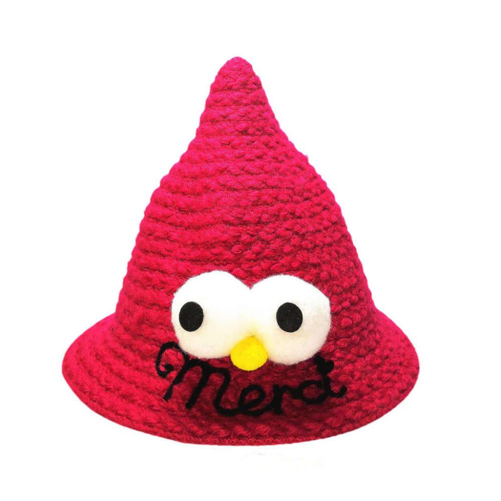 Nuevo sombrero de moda para niños, bebé, niña, bonito Gorro con letras, gorro de punto cálido, gorro de ganchillo hiver