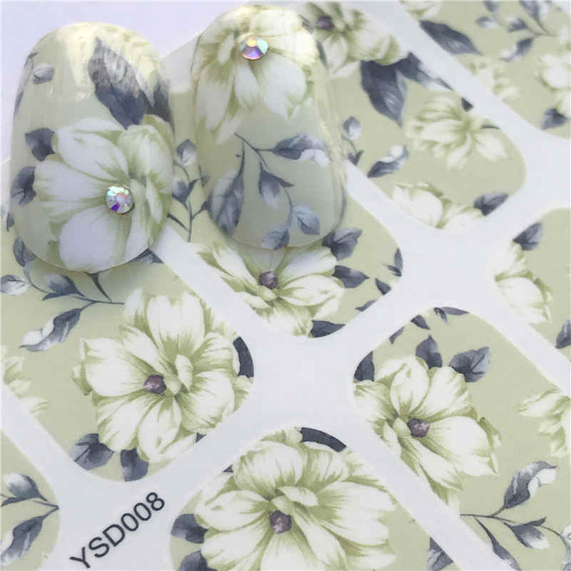 LCJ 1 Sheet DIY Decals Nails Art Water Transfer Printing Stickers Accessories For Manicure Salon