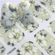 цена на LCJ 1 Sheet DIY Decals Nails Art Water Transfer Printing Stickers Accessories For Manicure Salon