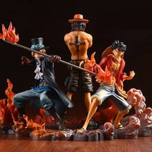 One Piece 3pc/set Monkey D Luffy Ace Sabo Pvc Action Figure Toy Anime Cartoon Collection Dispaly Birthday Juguetes