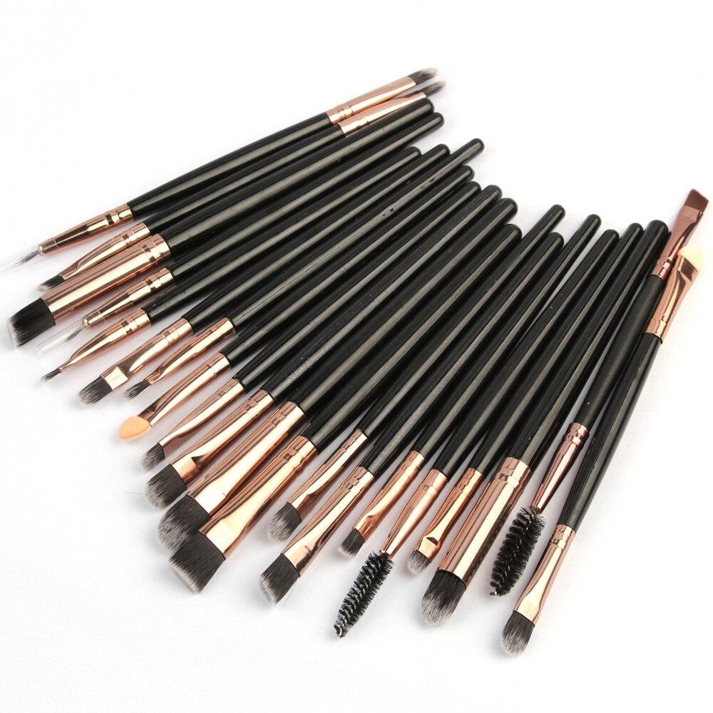 Eyeliner Foundation Makeup-Brushes Eyeshadow Maquiagem Profissional-Powder Pincel 20pcs