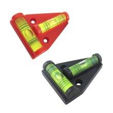 1 piece lot T type spirit level measurement instrument Triangular Plastic level indicator Shell Black