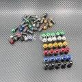 10 Шт. Для Мотоциклов 5 мм Лобовое Стекло Ветрового Болт Гайка Крепление Комплект Обтекателя Ветрового Стекла Гайки Крепления