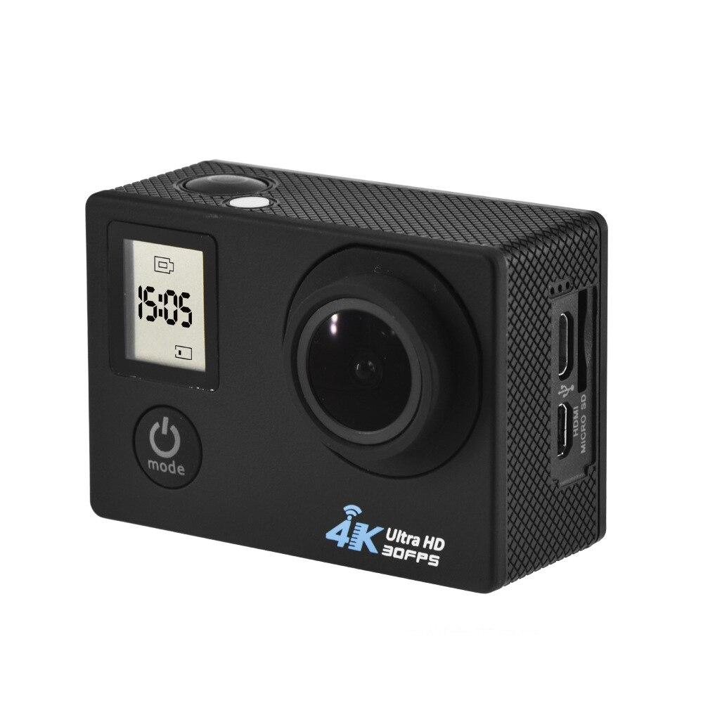 2017 de Doble Pantalla de Vídeo mini Cámara Ultra 4 K WIFI Acción cámara 1080 P/