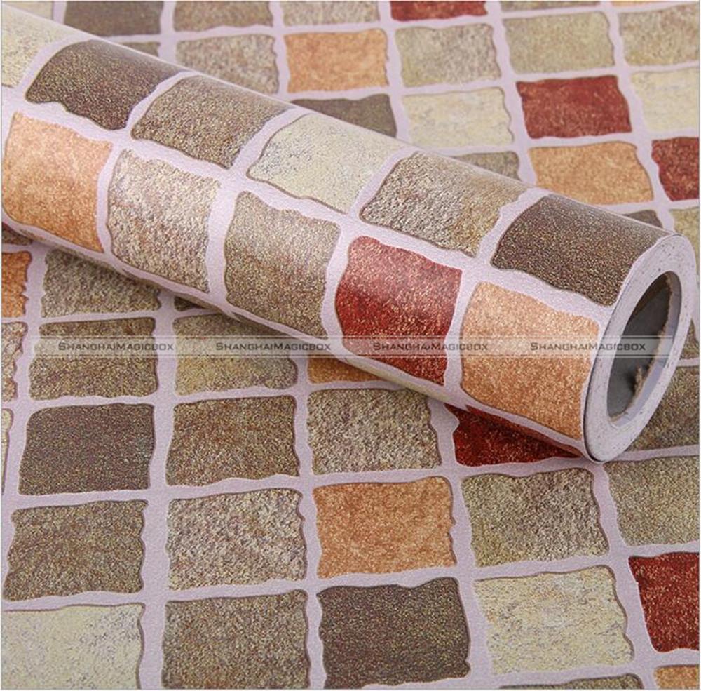 m cocina bao pvc mosaico diseo de papel de pared de ladrillo papel pintado auto