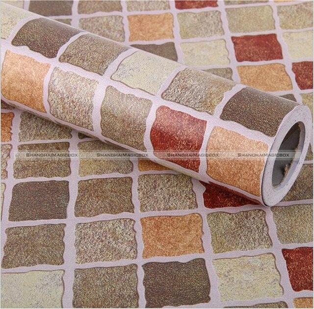 10 m cocina ba o pvc mosaico dise o autoadhesivo papel pintado papel de pared impermeable - Papel pintado adhesivo ...