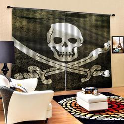Cartoon Skull Windows zasłony cienkie do salonu sypialnia dekoracyjne zasłony kuchenne zasłony zabiegi dostosowane Dropshi