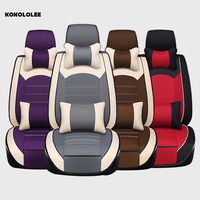 KOKOLOLEE Automobiles Seat Covers Universal Fit Most Vehicles Seats Interior Accessories purple/ brown/red/gray car Seat Covers
