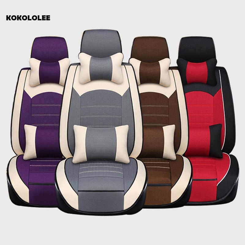 KOKOLOLEE Automobili Seat Covers Universale Fit Maggior Parte Dei Veicoli Sedili Interni Accessori viola/marrone/rosso/grigio Seggiolino auto copertine