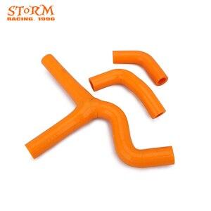 Оранжевый силиконовый радиатор для мотоцикла, Нагреватель охлаждающей воды для KTM SX EXC MXC 450 525 2003 2004 2005 2006 03-06 Motorcross