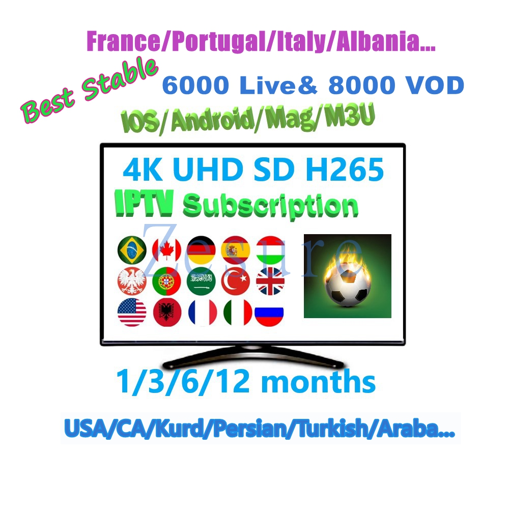 Купить с кэшбэком French IPTV 1 year subscription 5900 + Sports XXX European Arabic Sweden, Netherlands, Germany, Italy, United States CA VOD IPTV