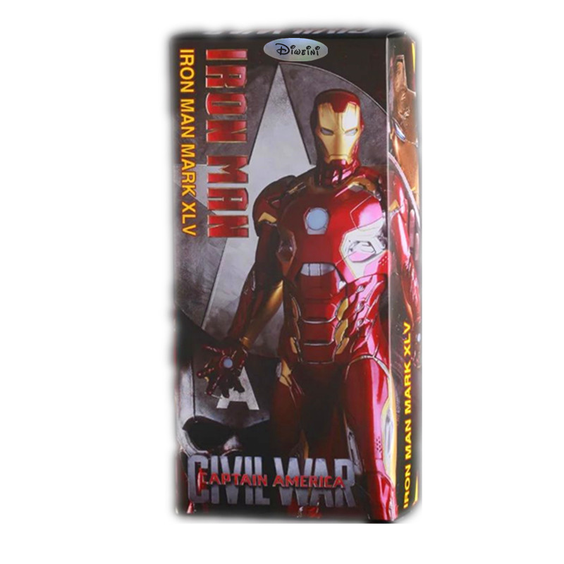ФОТО Iron Man Mark XLV MK45 1/6 scale painted PVC Action Figure Collectible Model Toy 12