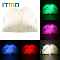ITimo Table Lamp LED Book Shaped Night Light Novelty Lighting Book Lights Holiday Birthday Gift USB