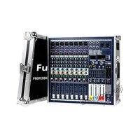 1 pc professionele power mixer High power dual LCD professionele mixer met stadium kast Bluetooth reverb effect 220 V 1800 w * 2-in Elektrische kachels van Huishoudelijk Apparatuur op