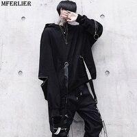 MFERLIER spring men Hip hop japanese style High Street dance sweatshirt winter hooded hoodie Hipster fashion teens Sweatshirt