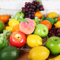 Decorative Artificial Fruits And Vegetables Of Foam Apple Peach Orange DIY Plastic Fake Fruit For Home