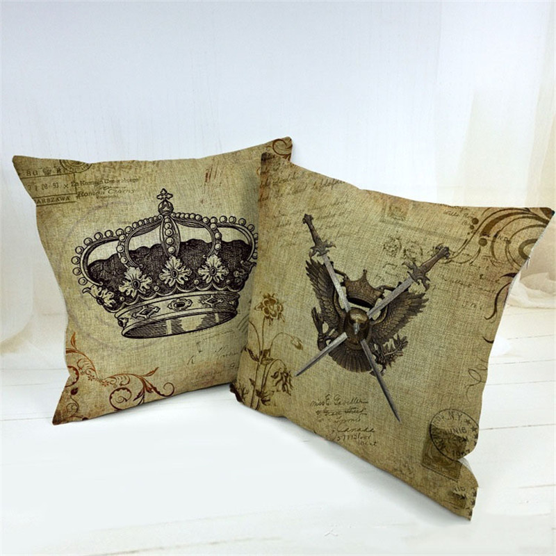 Imperial crown & Shield Knight <font><b>Crest</b></font> Pattern Sofa <font><b>Bed</b></font> Home Decoration Festival Pillows Case Cushion Cover Quality First Cojines