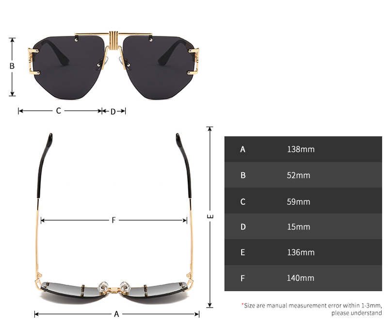 Oversized Frameless Sunglasses Men 2019 detail (1)