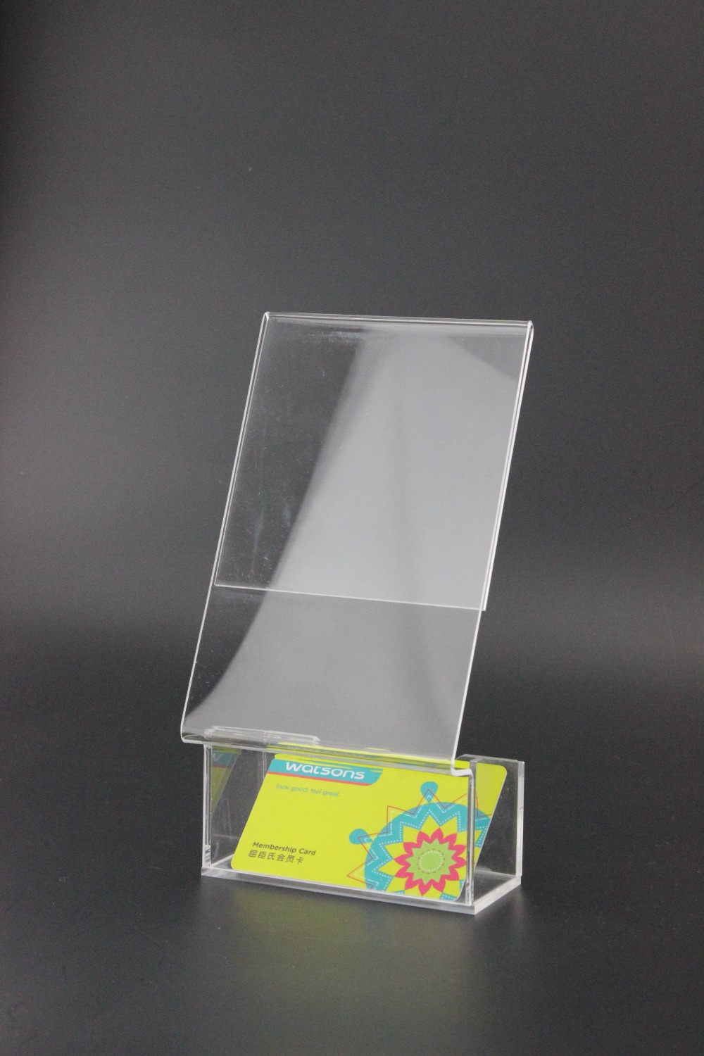 10 Pcs Acrylic Business Name Card Holder Display Box Office Exhibition Show  Label Holder Stand Desktoppany Brochure Holder