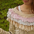Harajuku japonesa Mori Algodón de Punto Fino Suéter Dulce del cordón de La Vendimia Mujeres Tops Ocasionales Flojas Jerseys Jerseys Otoño Femenino
