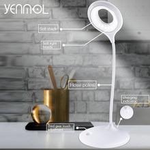 Yenmol led Desk Lamps Light desk Table Lamp 22 LED Bulb Touch Switch 3 Level Flexible Reading Round Desktops Lamps with Clamp