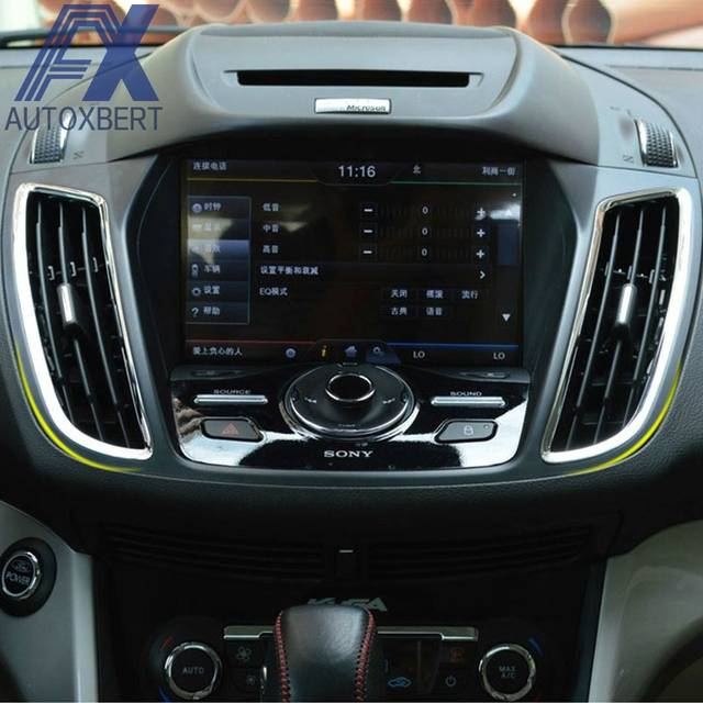 Online Ax Chrome Dashboard Air Vent Cover For Ford Escape Kuga 2017 2016 2018 Trim Bezel Garnish Front Outlet Frame Molding Aliexpress
