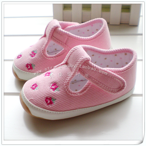 Total fenfen small flower female toddler shoes princess shoes cow muscle outsole indoor shoes