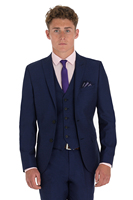 New Arriving Custom Made Slim Fit Dark Blue With Black Satin 2 Button Peaked Lapel Men