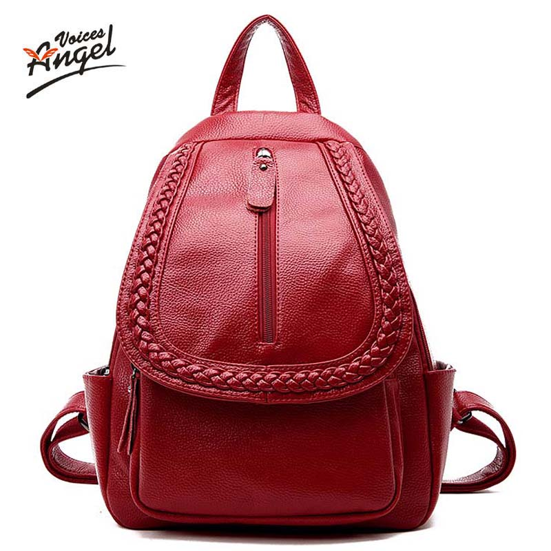 2017 Brand Women Backpacks Leisure Travel Package Black Soft Cow Leather Bag Schoolbags For Girls Female Leisure Bag mochilas korean women backpacks travel package black soft pu leather shoulder bag schoolbags for teenage girls female leisure bag mochila