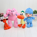 4pcs/set 14-30cm Pocoyo Loula Elly Pato Stuffed Animals Plush Toys Free Shipping