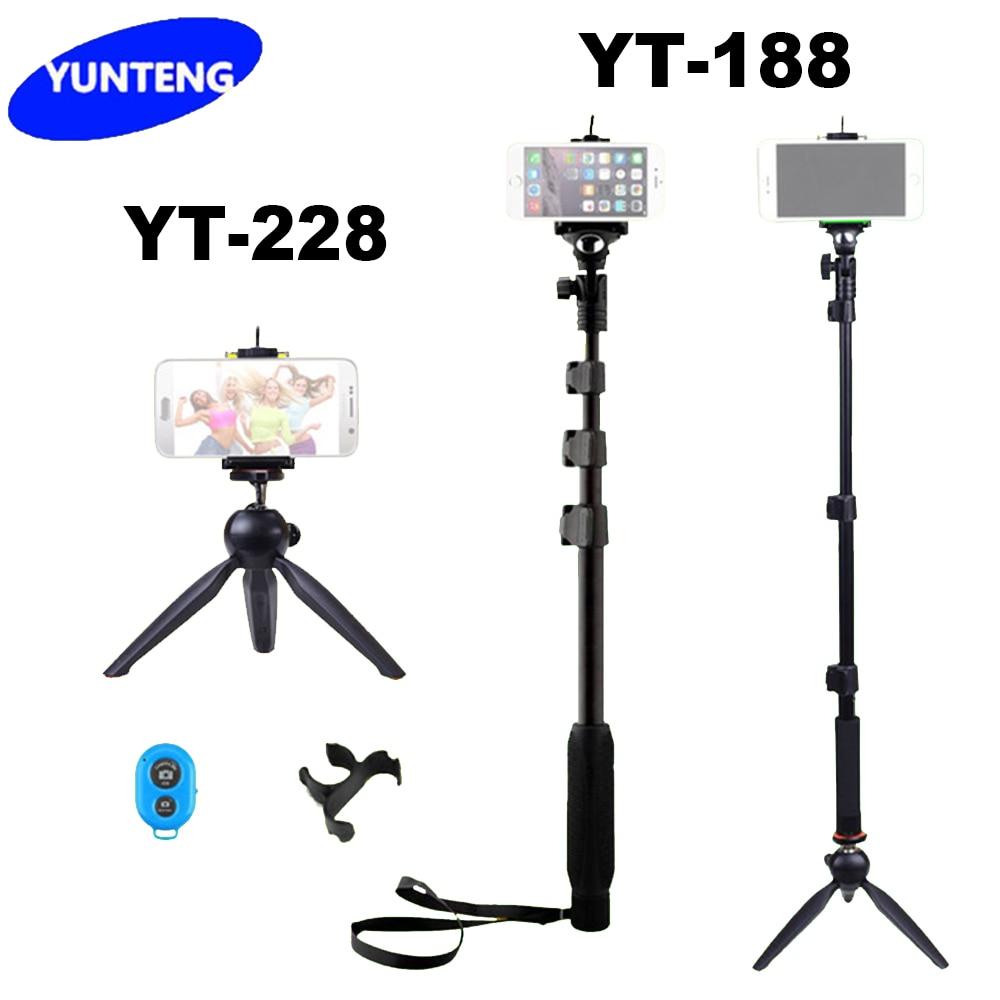 4 In 1 Yunteng 188 Handheld Selfie Stick Yunteng 228 Mini