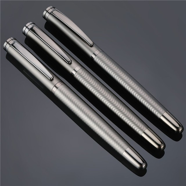 1 PC High Quality Full Metal Luxury Plating Ballpoint Pen Business Writing Signing Calligraphy Ball Pens Office Supplies 03733 1