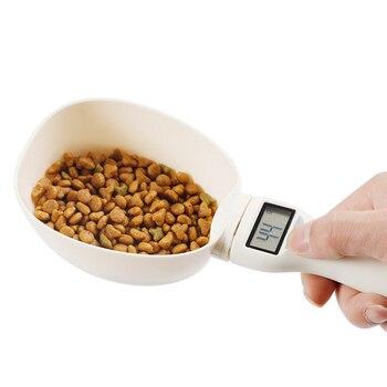 800g/1g di Cibo Per Animali Bilancia Tazza Per Il Gatto Del Cane di Alimentazione Ciotola Da Cucina Bilancia Cucchiaio di Misura Scoop Cup portatile Con Display A Led 1