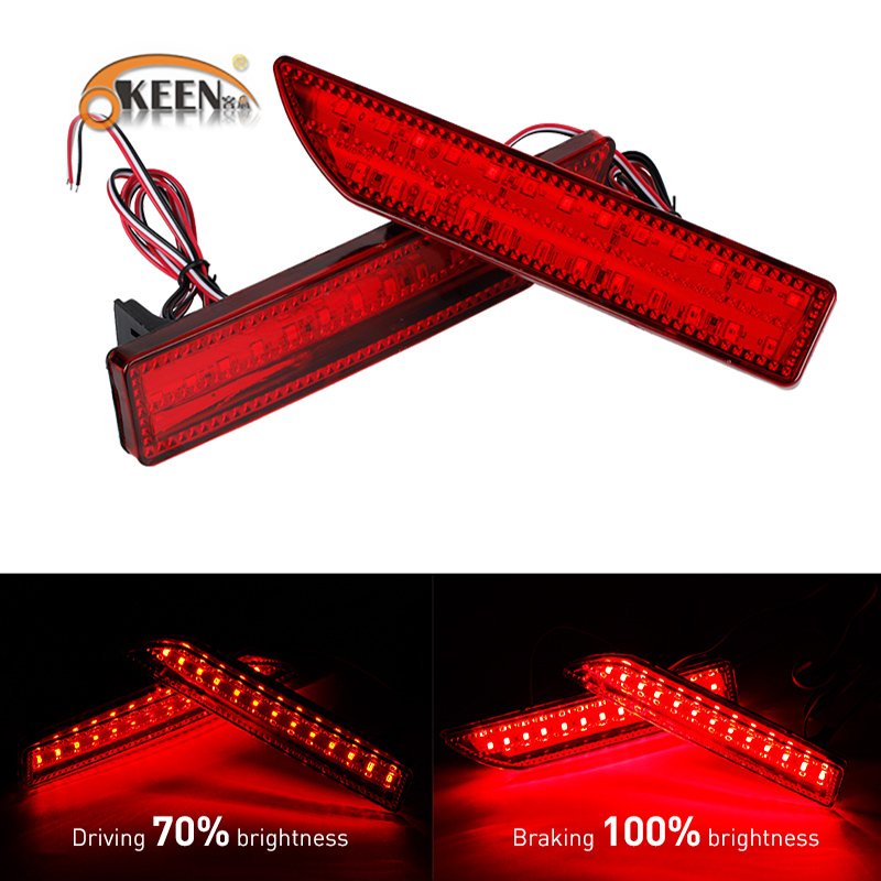 OKEEN car styling For Honda CRV 2009 2008 2007 Tail Trunk LED Rear Bumper Reflector Light Red Lens Lamp Fog Brake Lights we