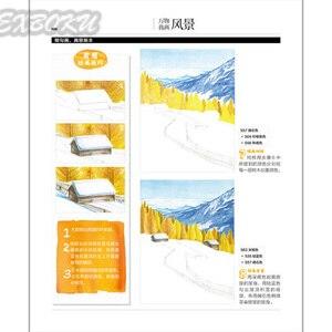 Image 4 - 208 Pagina Chinese Kleurpotlood Landschap Schilderen Boek/Kleur Lood Schilderij Introductie Tutorial Boek