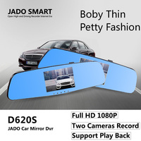 JADO D620S Car Camera Dvr 4 3 Full HD 1080P Mirror With Rearview Dual Lens Video