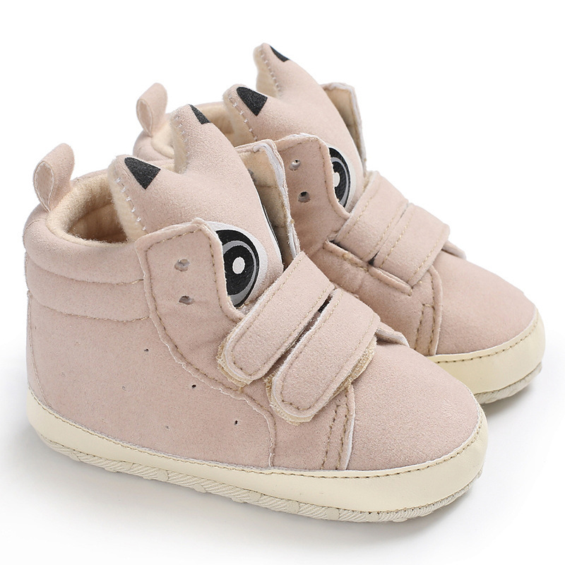 Newborn Baby Infant Girl Boy 3D Fox Pram Shoes Brown High top Boots 0-18 Months