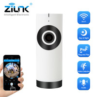 ZILNK IP Camera 180 Degree Panoramic Fisheye Lens HD 720P Wi Fi Two Way Audio Baby Monitor Indoor Home Security CCTV IP Cam