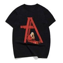 Men Short Sleeve Billie Eilish Dont Smile At Me T Shirt Fans Black Cotton Puls Size Male Hip Hop Funny T-Shirt