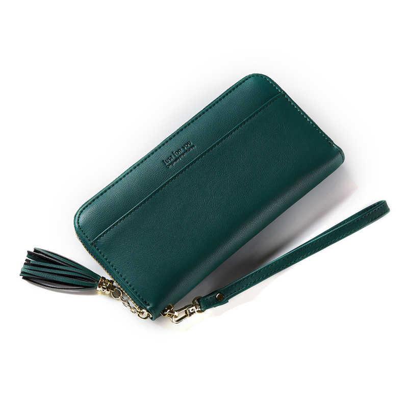 HMILY Saçak Tasarım Kadın Cüzdan Uzun Bayanlar Telefon Çanta Debriyaj Moda Kredi kart tutucu Yüksek Kaliteli Kadın Para Çanta