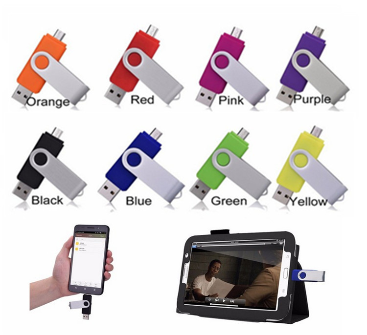 32GB Pen Driver Dual Port Smart Phones OTG USB Flash Drive Pendrive 32GB Memory Stick Clef USB For Android Multitul USB Driver