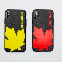 Ltaly Yaprak Milan Akçaağaç Dsquared Marka kapak Coque iPhone Için 7 7plu scase Için Yumuşak silikon arka kapak iPhone 6 6 s 7 8...