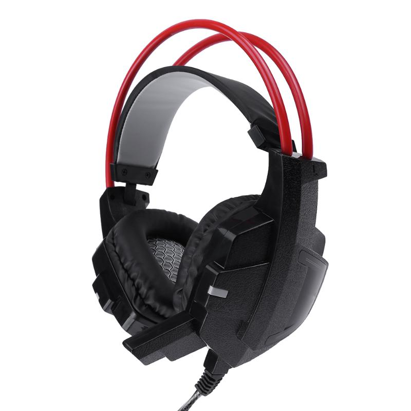 Adjustable Headsets Over-ear Gaming Wired Headphones Stereo Earphones with Microphone for Computer Games PUBG Gamer