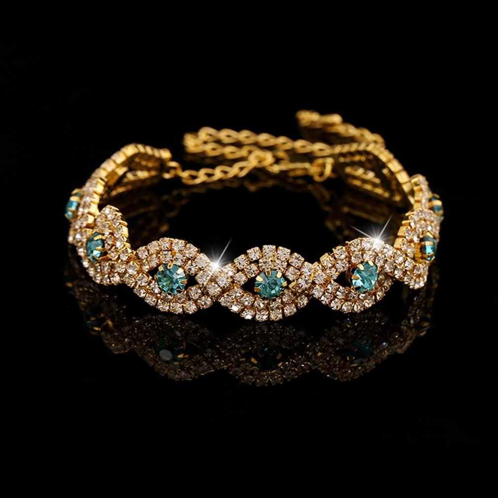 Простой Хрустальный браслет женский флэш-камень для женщин Шарм для сотрудников преимущества свадьбы путешествия юбилей