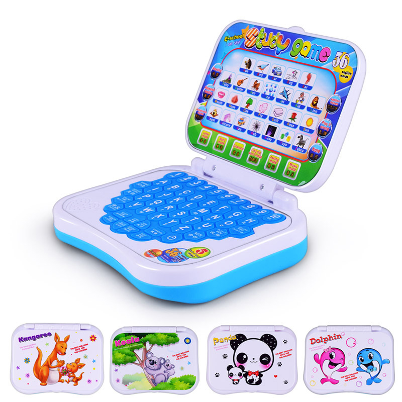 kids Baby Children's Educational learning machine <font><b>toys</b></font> Simulation <font><b>laptop</b></font> Touch Multi-function Chinese and english computer <font><b>toys</b></font> image